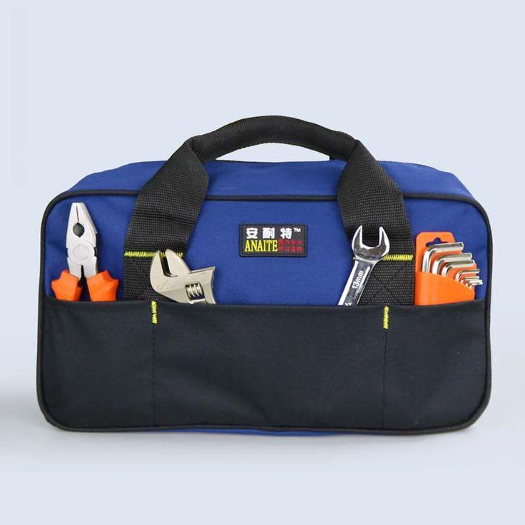 Heavy Weight Duty Multifunctional Canvas Tool Bag Adjustable Shoulder Strap Waterproof Oxford Cloth Bags Storage 35*13*20cm
