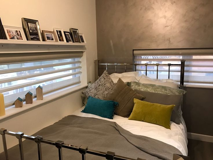 The Ideal Home Show Bedroom blinds. Master #LightandShade to create beautiful features in any room.