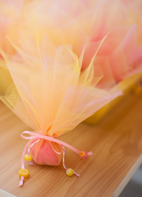 Juno's Naming Day // Photography by Panagiotis Baxevanis // Chocolate candy favors in tulle, made by me