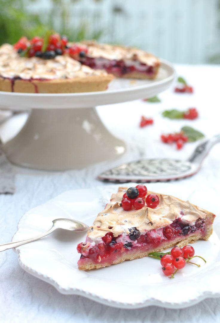 Gluten Free Red And Black Currant Meringue Pie