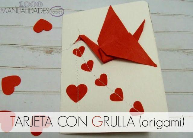 tarjeta grulla origami