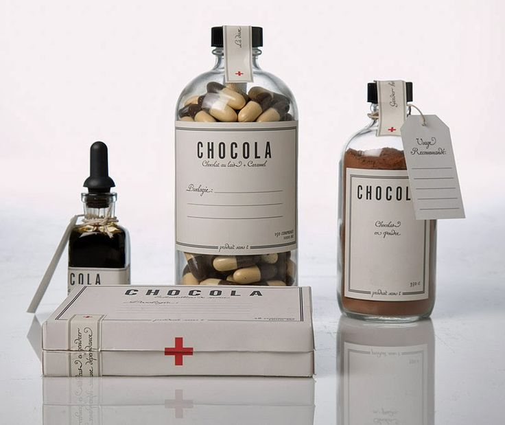 PACKAGING | UQAM: Chocola sans T | Raymond Lanctot. If only medicine looked this…