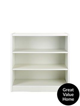Metro Small Wide Extra Deep Bookcase | very.co.uk £25.  H 79, W 80, D 33 cm