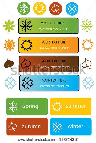 Seasons Icons Stock Vectors & Vector Clip Art | Shutterstock