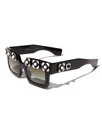 Shop now: Prada Flower Square Sunglasses