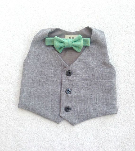 Hey, I found this really awesome Etsy listing at https://www.etsy.com/listing/198067835/boys-vest-and-tie-ring-bearer-baby-boy