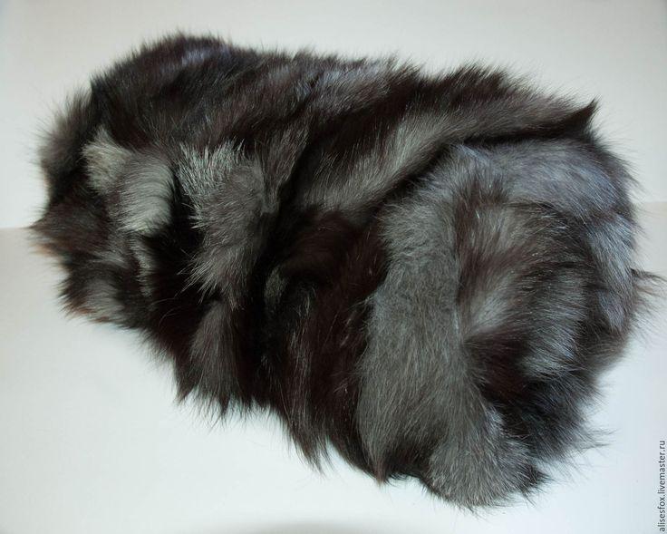 Купить Коврик из натурального меха чернобурки. - серебряный, мех, мех натуральный, коврик, ковер в детскую