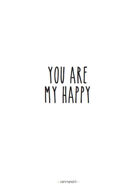You are my #happy - Buy it at www.vanmariel.nl - Card € 1,25 Poster € 3,50