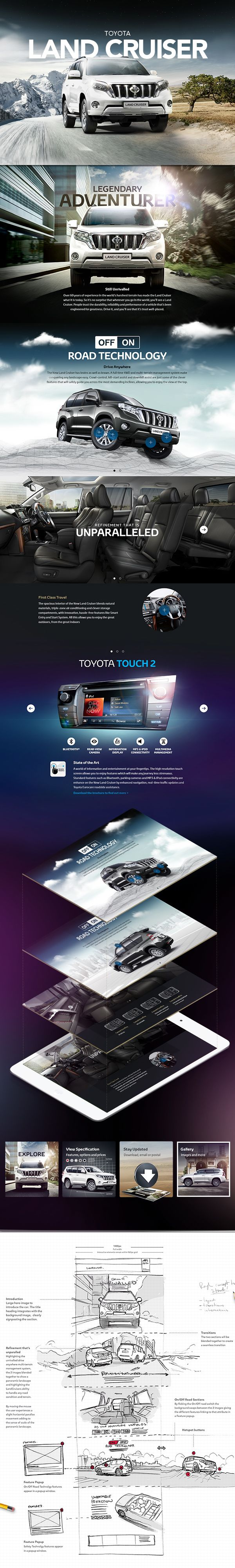 Cool Automotive Web Design. Toyota. #automotive #webdesign [http://www.pinterest.com/alfredchong/]