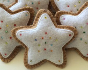 6 Fleece Gingerbread Man Ornament-Gingerbread by GingerSweetCrafts