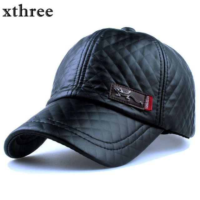 1xthree Nueva moda de alta calidad de cuero de imitación Cap otoño invierno  sombrero casual gorra de béisbol del snapback para hombres mujeres sombrero  al ... 84c743dc33f