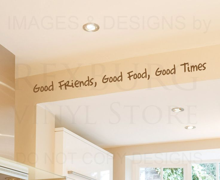 Wall Decal Quote Sticker Vinyl Art Large Good Friends Food Times Friendship  $4.89