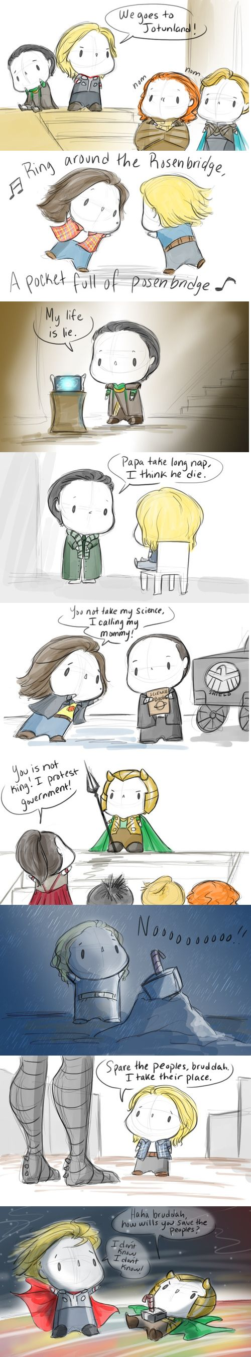 Thor Babbuvengers<<< You can't add anything except a continuation to this, it's amazing.
