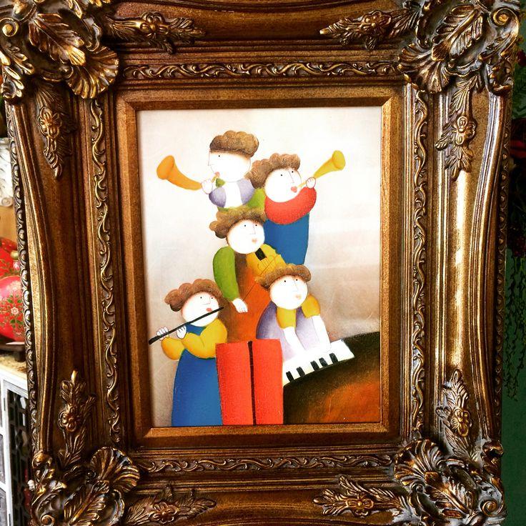 J. Roybal whimsical oil painting Closetconnoisseurresale.com #saresale #SanAntonioresale #bestresale #consignment #closetconnoisseur  #closetconnoisseurresale #homedecor #homedecoration #art #fashion #furniture