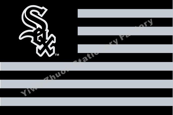 Чикаго Уайт Сокс Флаг MLB Млб 3ft Х 5ft Полиэстер Баннер Летающий 150*90 см Пользовательский Флаг Спорт Шлем CWS2