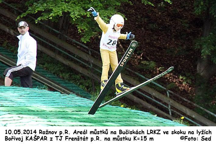 Young jumper on Sporten skis