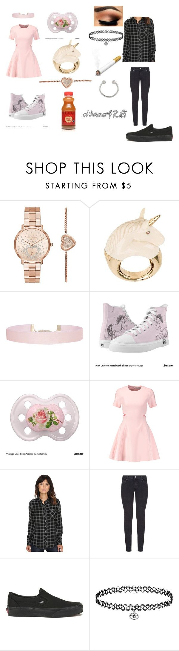 """""""oh babe oh my gosh"""" by athena420 ❤ liked on Polyvore featuring Michael Kors, BIBI VAN DER VELDEN, Humble Chic, Elizabeth and James, Rip Curl, Paige Denim, Vans, Coffee Shop and Miss Selfridge"""