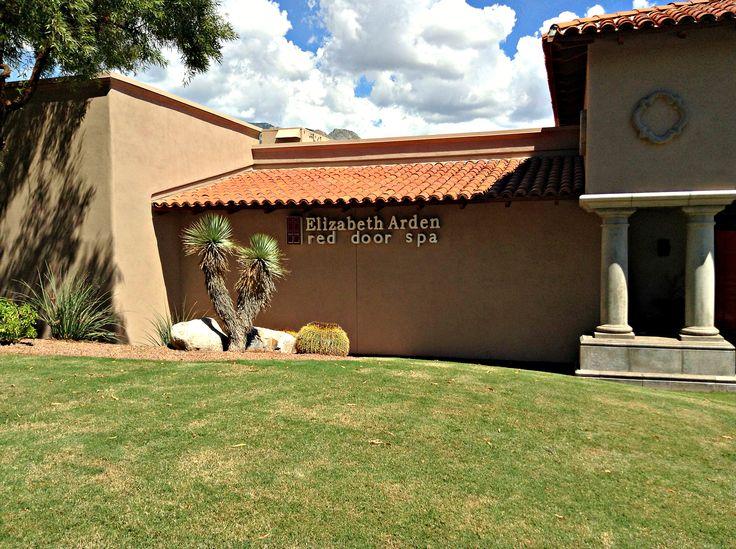 Outside The Red Door Spa | The Westin La Paloma Resort U0026 Spa. #RedDoorSpa