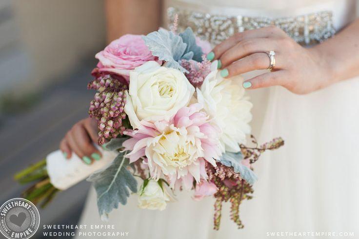Summer colours Bridal bouquet. Cherry Beach Wedding Photography, Toronto. #sweetheartempirephotography