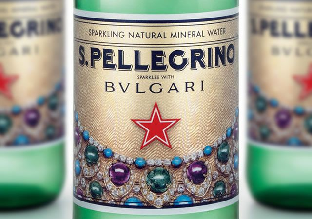 San Pellegrino: I can live off San Pellegrino and coke forever. I love this bottle, San Pellegrino sparkles with Bvlgari edition. - @peppernqueen
