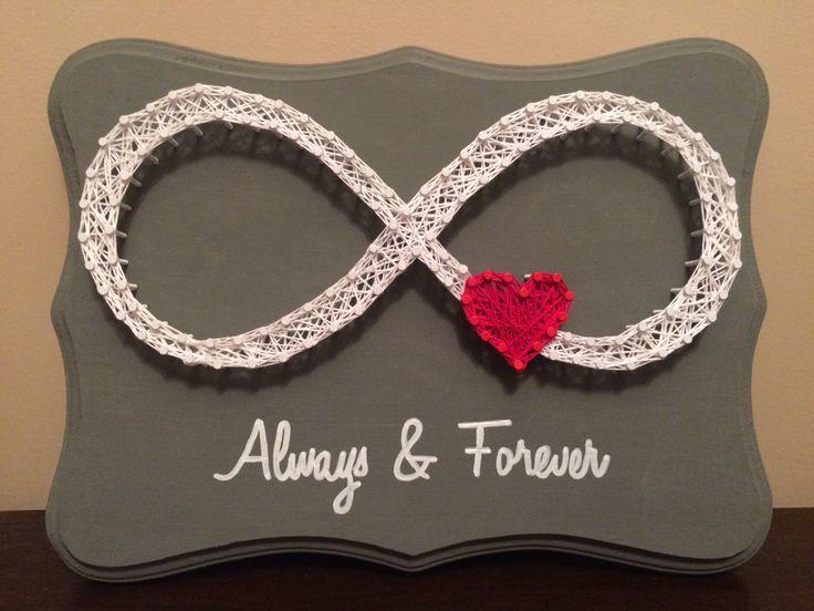 Always & Forever, infinity heart string art.