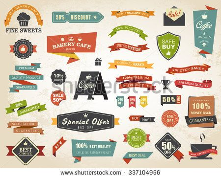 Vintage vector set of  labels banners tags stickers badges design elements./Label Banner Tag Sticker Badge Vintage Vector Set/Label Banner Tag Sticker Badge Vintage Vector Set