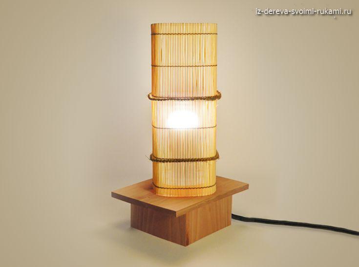 необычный напольный светильник из бамбука своими руками