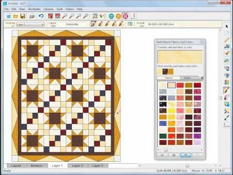 Lots of Free EQ Video Tutorials - Designing a Basic Quilt in EQ7