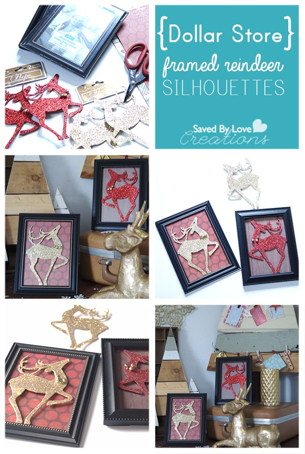Reindeer Dollar Store Christmas Craft @savedbyloves #quickcrafts #christmascrafts