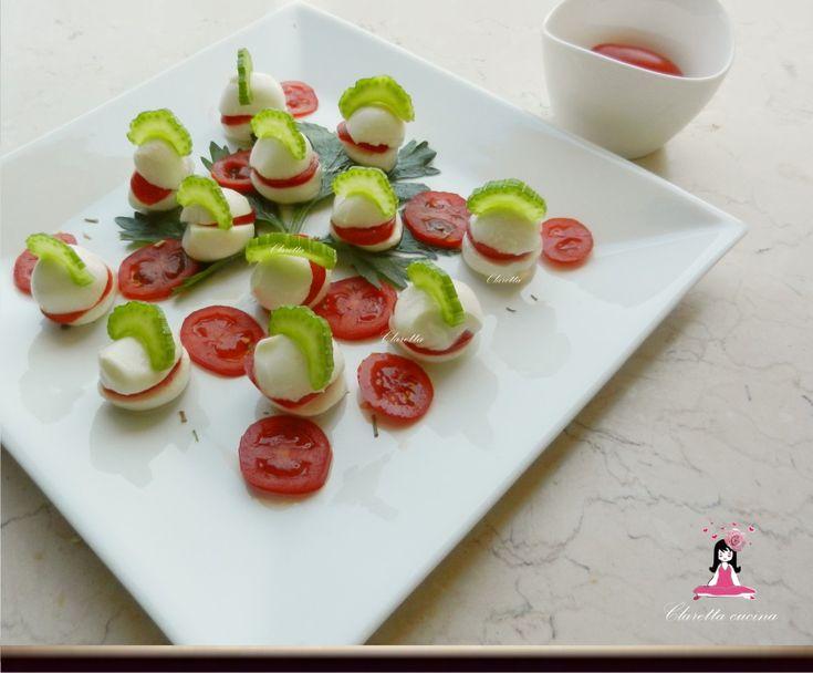 Mozzarelle ciliegine finger food, Ricette finger food light