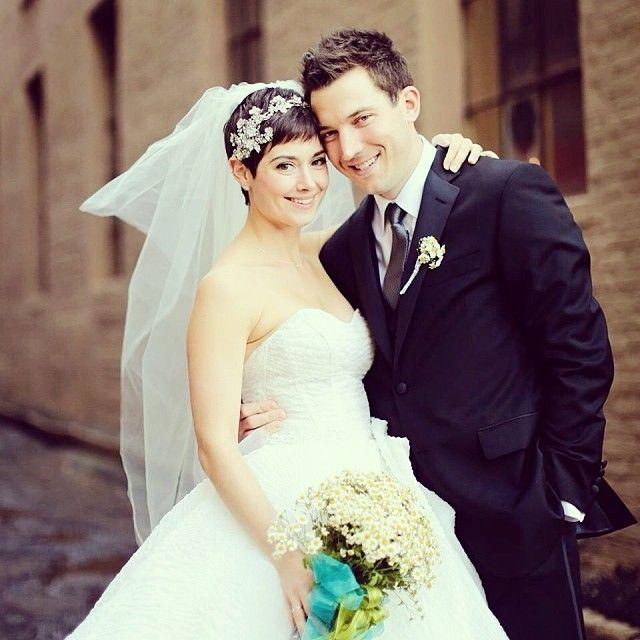 Kleinfeld consultant, Katie, wearing Lazaro. | Kleinfeld Real Bride ...