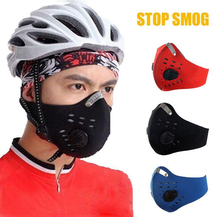 Hombres Anti-polvo a prueba de Viento Respirable Bike Ciclismo Media Mascarilla con Filtro de Carbón activado de Neopreno Máscara Facial Niebla Al Aire Libre