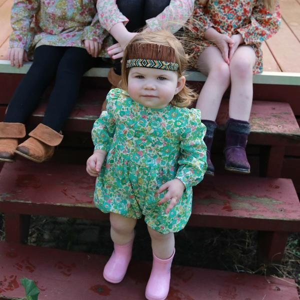 Pretty Wild, Aqua, Liberty Print Dress, Classic Girls Dress, Boho Girl, Boho Baby, Boho Toddler, Floral Romper, Floral Jumpsuit, Beautiful Romper, Beautiful Jumpsuit, Special Girls Dress3