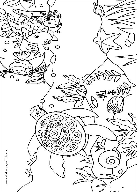 Colouring Pages Rainbow Fish : 168 best thema schildpadden kleuters turtles theme preschool