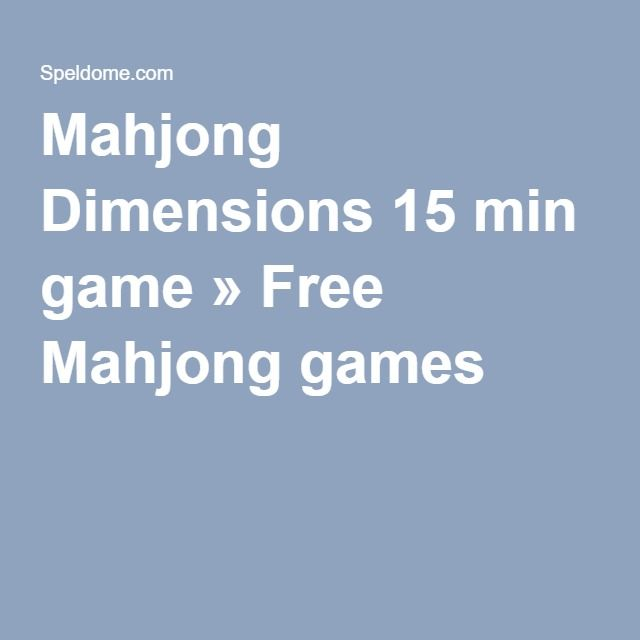 mahjongg 15 minutes