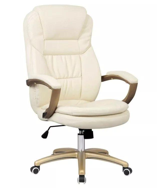 cadeira escritório presidente reclinável couro pu top seat