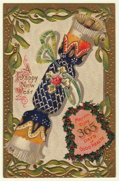 ◄ Happy New Year! ► Vintage card (256)