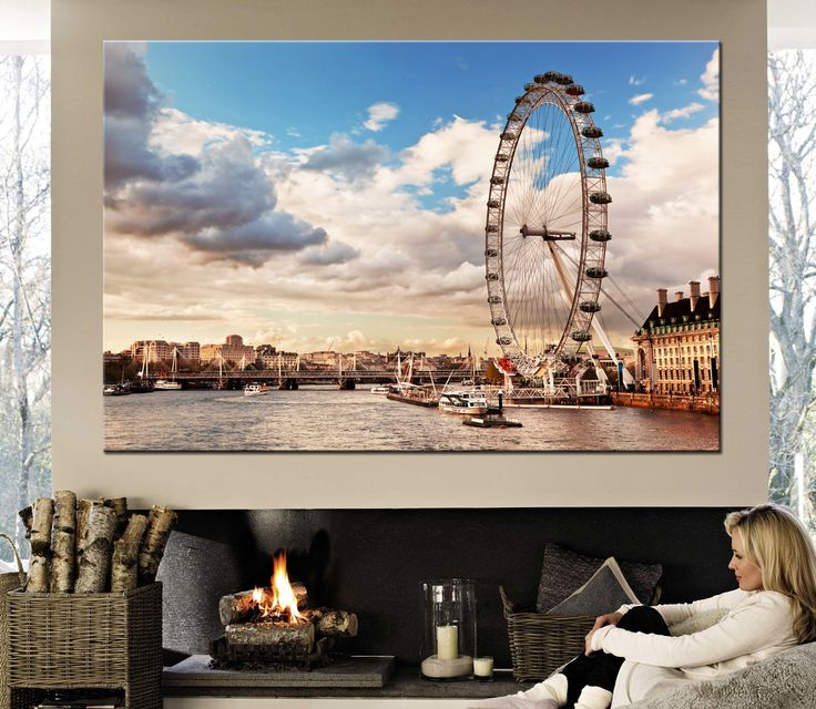 Large canvas print London, The River Thames Canvas Print Ready to Hang.Wall Art Multi Panel London view Multi-Sized Canvas print by CanvasPrintStudio on Etsy