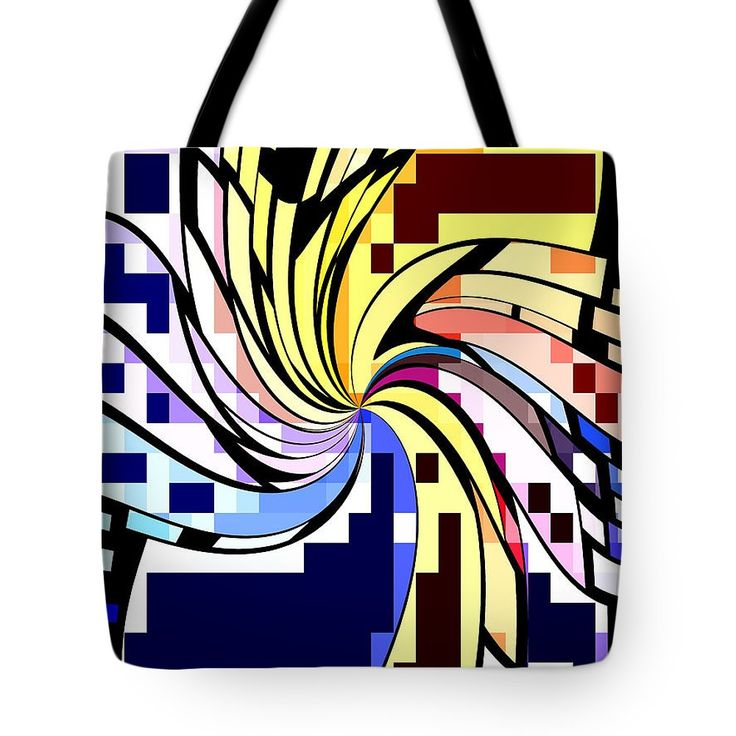 Whirl 1 Tote Bag by Chris Butler.  #totebag #bag #abstract #colorful #design #art #Lifestyle
