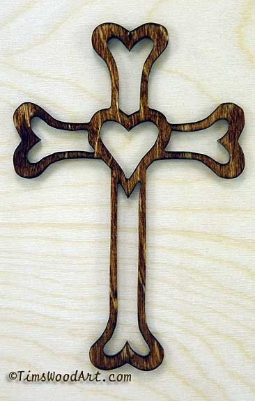 Gods Love Cross S5_1 Wall Hanging or Ornament by TimsWoodArts, $7.00
