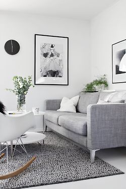 ♅ Dove Gray Home Decor ♅ modern grey and white living room
