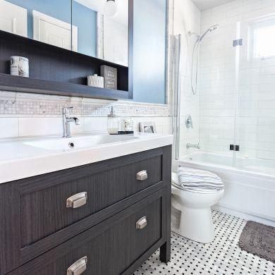 Avant-après: une salle de bain 100% optimisée - Salle de bain - Avant après - Décoration et rénovation - Pratico Pratique