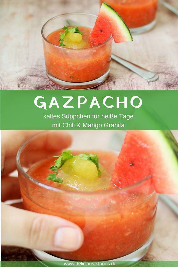 Gazpacho Mit Mango Granita Rezept Essen Und Trinken Pinterest