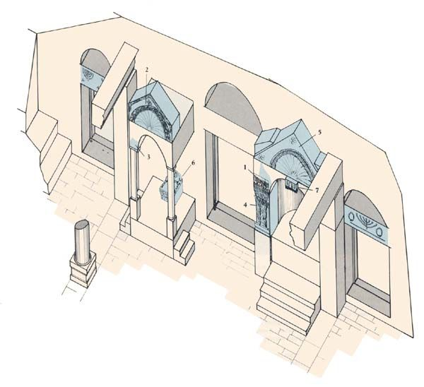 From the architectural fragments found at Chorazin and from what we understand about contemporaneous synagogue architecture, we can reconstruct many details