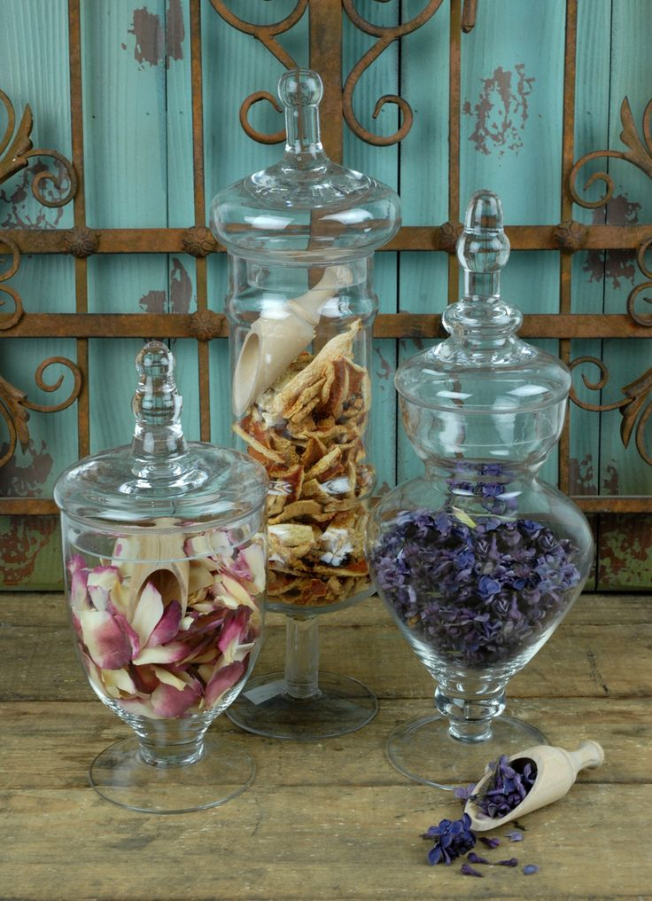 Set Of 3 Small Apothecary Jar 9 12 Amp 13 5 Quot Tall Crafts