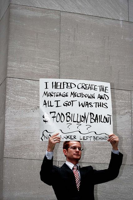 BLOGGED: 19 Nov. 2008: www.counterspinyc.blogspot.com/    New Yorkers Protest the US$850 BILLION (US$3 TRILLION) Wall Street BAILOUT: Wall Street, NYC - September 25, 2008.    This is actually a GOOD guy. See: billionairesforbush.com/index.php for more i How to get other people to promote your offers for you