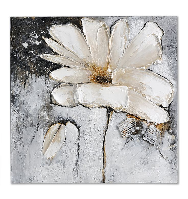 220 best flowers images on pinterest oil paintings acrylic giftcraft white flower oil painting on canvas mightylinksfo Choice Image