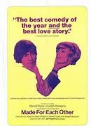 Made for Each Other (1971). [GP] 100 mins. Starring: Renée Taylor, Joseph Bologna, Paul Sorvino, Olympia Dukakis, Louis Zorich, Ron Carey, Adam Arkin, Candice Azzara and Eddie Barth