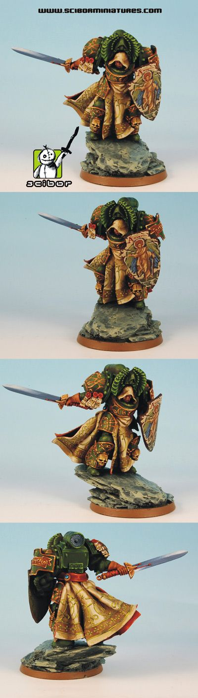 CoolMiniOrNot - Warhammer 40K Dark Angels Lord Converted by Scibor