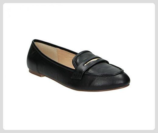 FITTERS FOOTWEAR - Damenschuhe Ballerinas - Alena in light schwarz PU - Schuhe in Übergröße - Schuhgrößen 42 bis 45, Schuhgröße:EUR 43 - Ballerinas für frauen (*Partner-Link)